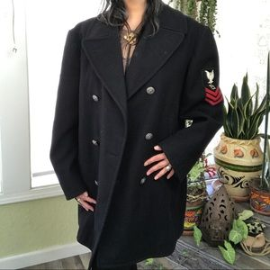 Other - VINTAGE HEAVY WEIGHT WOOL MILITARY PEA COAT